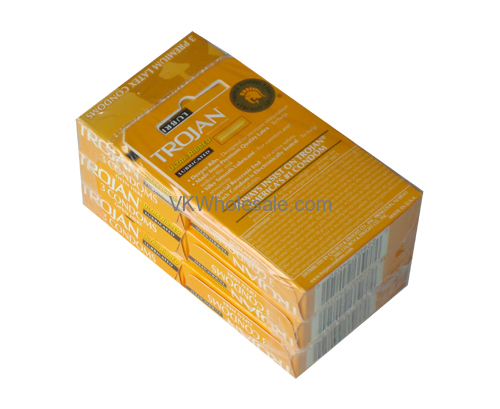 Wholesale Trojan Ultra Ribbed Lubricated Condoms