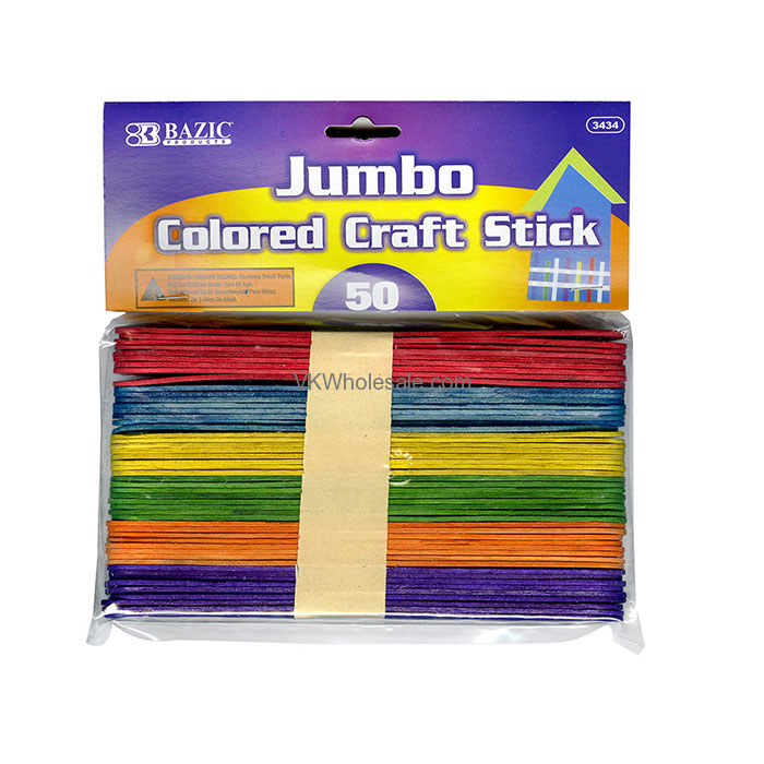 jumbo colored craft sticks wholesale school supplies