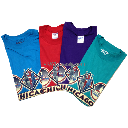 Chicago t shirts chicago souvenirs t shirts wholesale for Printed t shirts in bulk