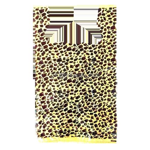 Leopard print 1 6 heavy duty t shirt shopping bags for Cheap t shirt bags wholesale