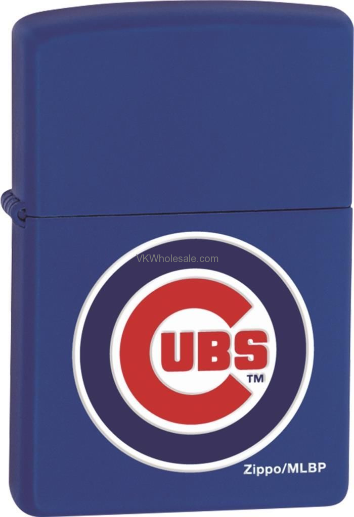 Zippo Classic Mlb Chicago Cubs Royal Blue Matte Z902