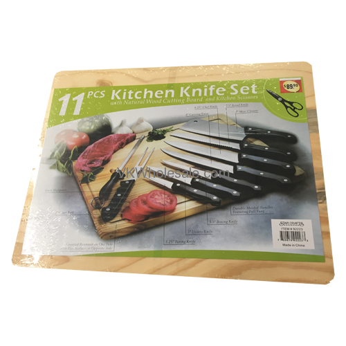 Kitchen Knife Set Names: 11 PC Kitchen Knife Set With Cutting Board Wholesale