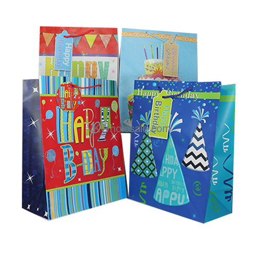 Happy Birthday Gift Bags Large 12 Pc