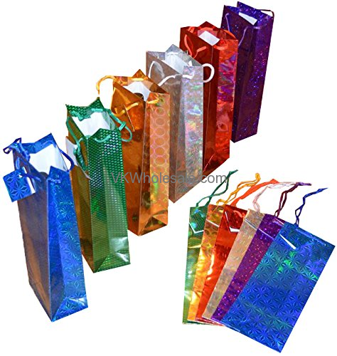 Hologram Wine Gift Bags 12 Pc