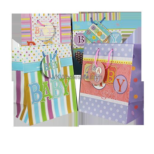 Baby Gift Bags Matt Jumbo 12 Pc