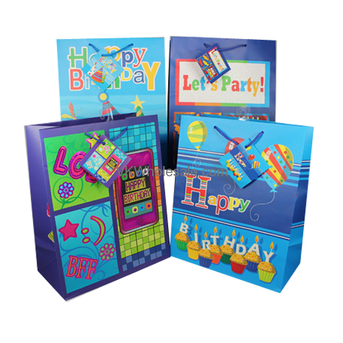 Gift Bags Happy Birthday Medium Wholesale
