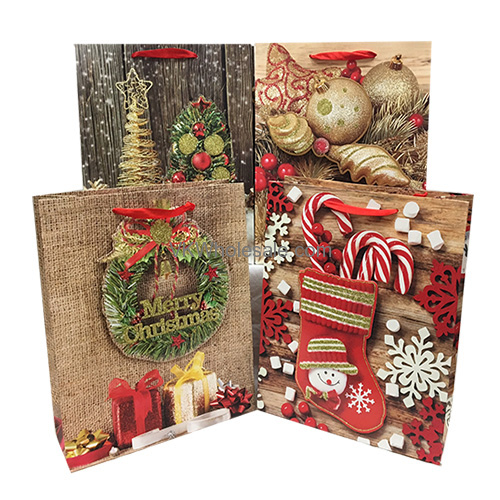 Christmas gift bags with glitter jumbo