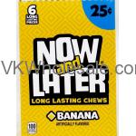 Now & Later Candy Banana 24/6 PCS Bars Wholesale