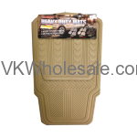 4 PCS Heavy Duty Car Mats Beige Wholesale