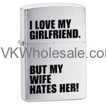 Zippo I Love My Girlfriend Lighters Wholesale