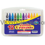 12 Color Premium Quality Jumbo Crayon