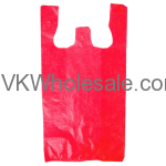 Red 1/6 Heavy Duty T-Shirt Shopping Bags Wholesale