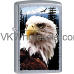 Zippo Bald Eagle, Street Chrome Finish Lighter Wholesale