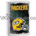 Zippo Classic NFL Green Bay Packers Brushed Chrome Z742 Lighter Wholesale