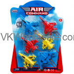 "6PC 2.75"" AIR COMAND MINI JETS SET, IN BLISTER CARD Wholesale"