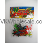 12PC PLASTIC LIZARDS IN POLY BAG W/HEADER