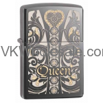 Zippo Engraved Queen - Black Ice 28797 Wholesale