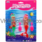 "2PC 5.5"" Mermaid Dolls W/Accessories Toy Wholesale"