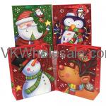 Christmas Glitter Gift Bags Jumbo Wholesale