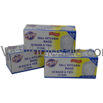 Value Key 13 Gallon Tall Kitchen Bags, 38 Count Wholesale