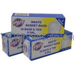 Value Key 8 GAL Waste Basket Trash Bags - 20 Bags Wholesale