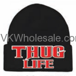 Thug Life Embroidered Winter Skull Hats Wholesale
