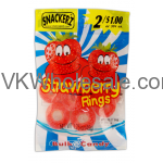 Snackerz Strawberry Rings 2 for $1 Candy Wholesale