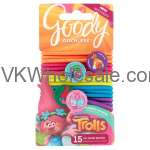 Goody Trolls Braided Ouchless Elastics W/Character Charms Wholesale