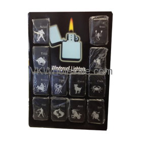 Zodiac SIGNs Windproof Lighters 12 PCS