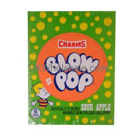 CHARMs Blow Pops Sour Apple 48ct