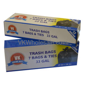 33 GAL Extra Strength Tall Kitchen Bags