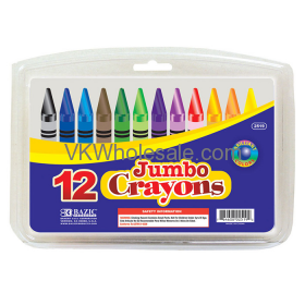 12 Color Premium Quality Jumbo Crayon