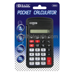 8-Digit Pocket Size CALCULATOR with Neck String