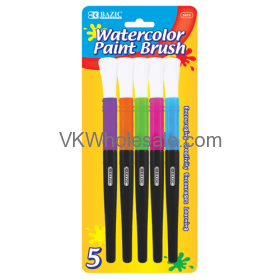 Jumbo Watercolor PAINT Brush (5/Pack)