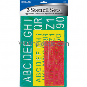 10, 17, 27 mm Size Lettering Stencil Sets (3/Pack)