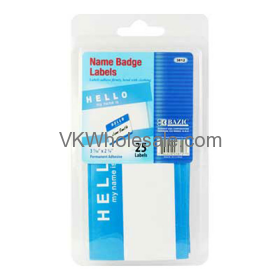 """""""HELLO my name is"""" Name Badge Label (25/Pack) Wholesale"""