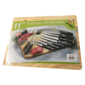 11 PC Kitchen Knife Set with Cutting Board Wholesale