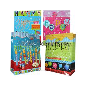 Happy Birthday Gift BAGS Glossy Finish Jumbo 12 PC