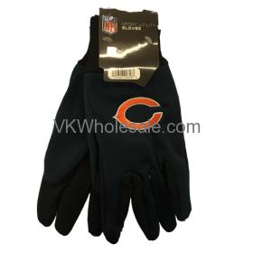 Chicago Bears NFL Work Gloves 6 Pairs
