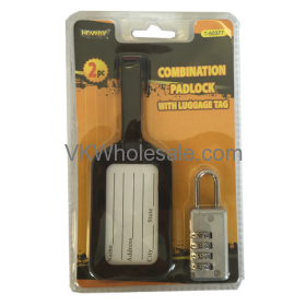 Combination Padlock with Luggage Tag Wholesale