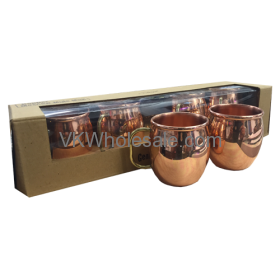 4PC Old Dutch 2-Ounce Solid Copper Moscow Mule Shot MUGs