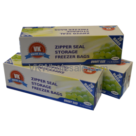 Zipper Seal Storage Freezer Bags Quart Size Wholesale