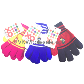 Kids Winter Color Gloves Dozen Wholesale