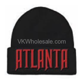 Atlanta Embroidered Winter Skull Hats Wholesale