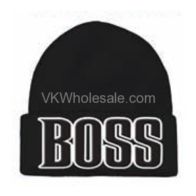BOSS Embroidered Winter SKULL Hats 12 PC