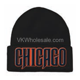 Chicago Embroidered Winter Skull Hats for FOOTBALL Fans 12PC