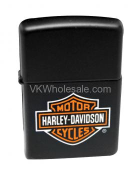 Zippo Black Matte HARLEY DAVIDSON Logo Lighter 218HD.H252