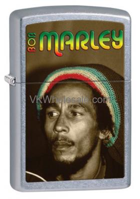 Zippo Lighter: BOB MARLEY Portrait - Street Chrome 28488