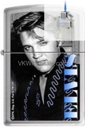 Zippo ELVIS Presley Chrome Lighter Z186