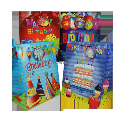 Gift Bags Happy Birthday Glossy Jumbo Wholesale